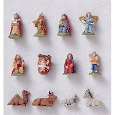 Dollhouse Décor - Dollhouse Miniature 12 Piece Nativity Set Ornaments -- Check out the image by visiting the link.