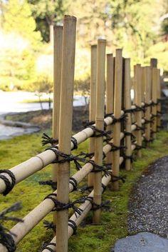 bamboo fence - no nails #japanesegardens