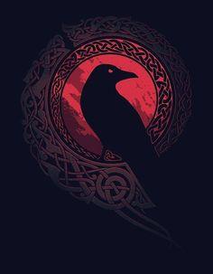 'Ragnar Lothbrok - Vikings' Poster by Fantasy Kunst, Dark Fantasy Art, Dark Art, Norse Tattoo, Viking Tattoos, Art Viking, Viking Woman, Raven Art, Arte Obscura