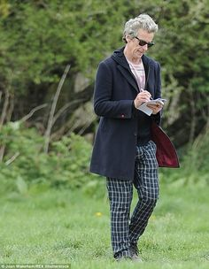 Consumed: Peter was seen walking around the set with a pen and paper in his hand, making notes