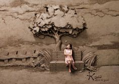 This campaign for Omo is by ad agency Lowe Singapore who commissioned multi-awarded sand artist JOOheng Tan to build the sculptures.
