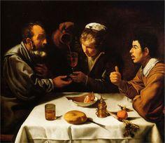 Diego Velázquez (Spanish 1559–1660) [Baroque, Portrait] The Lunch, 1620.