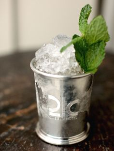 How refreshing does this look? I've always wanted a set of silver mint julep glasses. Photo by Josh Meredith courtesy of Proof on Main