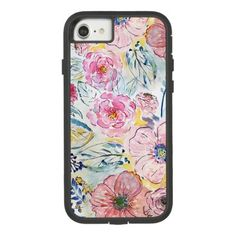 beautiful romantic watercolor floral Case-Mate tough extreme iPhone 8/7 case - romantic gifts ideas love beautiful