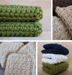 Hand Crocheted Washcloths & Scrubbies from CocoaBeans — Etsy Find Crochet Kitchen, Crochet Home, Knit Or Crochet, Crochet Crafts, Yarn Crafts, Hand Crochet, Crochet Granny, Yarn Projects, Knitting Projects