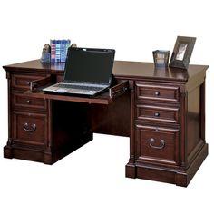kathy ireland Home by Martin Furniture Mount View Executive Desk & Reviews | Wayfair