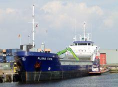 Delfzijl vandaag 20 augustus 2015 aan de Handelskade, arriveerde vanuit Stettin, Polen  http://koopvaardij.blogspot.nl/2015/08/delfzijl-vandaag_20.html