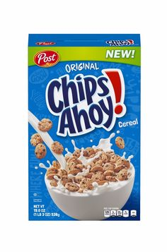 """It's becoming more and more acceptable to eat cookies for breakfast, and now we can add Chips Ahoy! and Nutter Butter to the list of """"desserts turned Chips Ahoy Cookies, Cereal Cookies, Crispy Cookies, Sweet Cookies, Cookies Et Biscuits, Breakfast Cereal, Breakfast Bowls, Nutter Butter, Rice Krispies"""