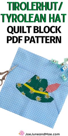 Tirolerhut / Tyrolean hat quilt block pattern. All patterns include a colored overview, an overview for you to color yourself and a numbered overview as well as the numbered segments. A short assembly instruction is included as well. #joejuneandmae #Tirolerhutquiltblock #quilting #quiltingtips #quiltblockpattern Beginner Quilt Patterns, Baby Quilt Patterns, Modern Quilt Patterns, Paper Piecing Patterns, Patchwork Patterns, Sewing Patterns, Quilting Projects, Quilting Designs, Quilt Blocks Easy