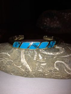 Navajo Turquoise Sterling Cuff Bracelet Inlaid by BargainBitz Navajo Jewelry, Tribal Jewelry, Black Friday Specials, 925 Silver, Sterling Silver, Southwestern Jewelry, Stone Bracelet, Mother Gifts, Small Businesses