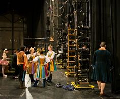 backstage at Pittsburgh Ballet Theatre's Coppelia
