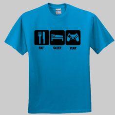 Eat, Sleep, Play Playstation Funny T-shirt Eat Sleep, Funny Tshirts, Playstation, Shirt Designs, Game, Tees, Mens Tops, T Shirt, T Shirts