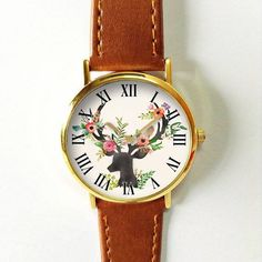 Antler Watch Deer Antler Women Watches Leather Watch by FreeForme