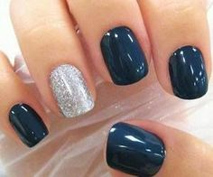 Not a fan of the different nail look but love the navy colour!