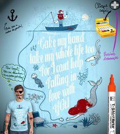 Estampa 'Can't Help Falling In Love' no Camiseteria.com. Autoria de Juanito Legal (Mr. von Dunham). Votem! http://cami.st/d/53024