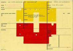 Karel Martens - Letterpress on catalogue card from the Stedeljk Museum Amsterdam, 1991