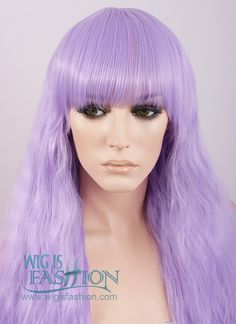 70cm Heat Resistant Long Wavy Light Purple Pastel Fashion Hair Wig CM159