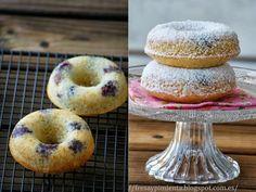 fresa & pimienta:  donuts de moras.