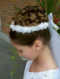 My beautiful baby's hair on her 1st Holy Communion! This is my daughter's hair, I can give you the hairdresser who did this! Nassau County, Long Island, NY