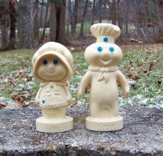 Vintage 1974 Pillsbury Doughboy & Girl Poppin by Raidersoflostloot