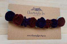 Chicas de corona de flores marrón y oscuro violeta sentía flor corona, diadema…