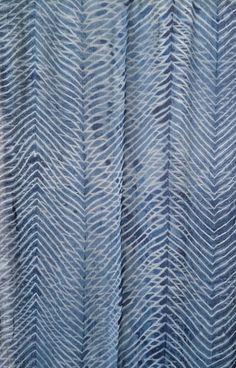 Aranya Naturals Silk Scarf - Silk Chiffon - Shibori Technique dyed with Indigo