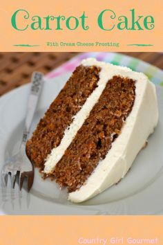 Are you looking for the perfect Carrot Cake with Cream Cheese Frosting recipe? Look no further, this one is perfect and gluten free.