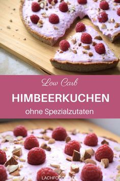 Himmlischer Low Carb Himbeerkuchen A cake without sugar, without flour without special ingredients but with raspberries. A raspberry dream without sugar, with ground almonds and stevia. The low carb cake base is made from ground almonds, butter and egg. Low Carb Cake, Low Carb Sweets, Low Carb Desserts, Low Carb Recipes, Baking Recipes, Cake Recipes, Dessert Recipes, Muffin Recipes, Dinner Recipes