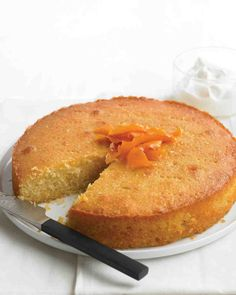 Almond-and-Orange Yogurt Cake - uses Semolina flour (optional) Martha's.