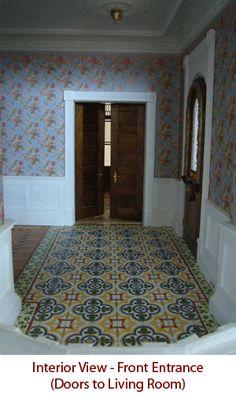 Victorian Italianate by Alberto Gozzi love the flooring , wallpaper is kinda gay though...