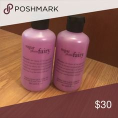 🆕Philosophy 3-n-1 Shower Gel THIS LISTING IS FOR 2. Philosophy sugar plum fairy shampoo, shower gel and bubble bath Gentle enough for everyday use 6oz. shower gel, bubble bath and shampoo Philosophy Makeup