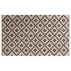 Check out this item at One Kings Lane!  Blakely Flat-Weave Rug, Ivory/Blk