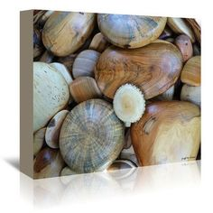 East Urban Home Wood Stones by Graffitee Studios Photographic Print on Wrapped Canvas Size: