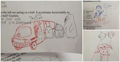 His Students Doodled On Their Tests, So This Science Teacher Decided To Add His Own Too | Diply
