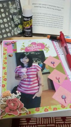 HappyDay#MyScrapbooking#PinkDay#sweet#lolipop#FirstTime