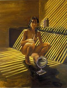 Eric Fischl, Haircut, 1985 (The Broad Art Foundation, Santa Monica) The Broad Museum, Nineteen Eighty Four, First Art, The Visitors, Father And Son, American Artists, Figurative Art, Rock And Roll, Oil On Canvas