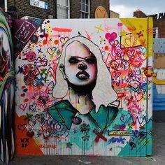 Street art(Whitecross Street Party 2014) by id-iom