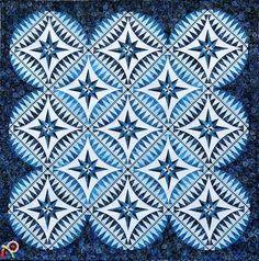 Something Blue quilt pattern by Jacqueline de Jonge | Be Colourful