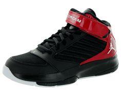 online store ea2bf 9faac Nike Jordan Kids Jordan Bct Mid 3 Bg BlackWhiteGym Red Basketball Shoe  5.5 Kids US
