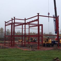 November 2015 steelwork starts with south corner of teaching block #UTC #schools #engineering