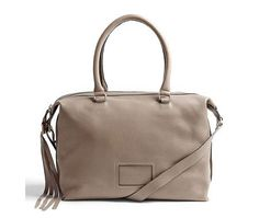 See By Chloe  Alix Leather Shoulder Bag.    Offset this soft grey bag with bright accessories for a statement look.