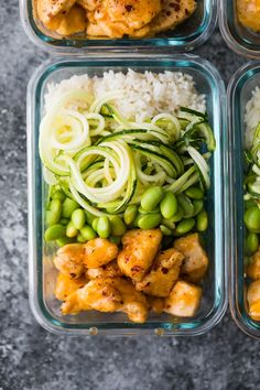 Healthier firecracker chicken recipe in meal prep container