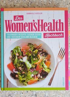 Das Women's Health Kochbuch. Ich zeige euch das Rezept Zucchininudeln mit Mandelsauce Sprouts, Grains, Meat, Chicken, Vegetables, Food, Delicious Dishes, Slim, Yummy Food