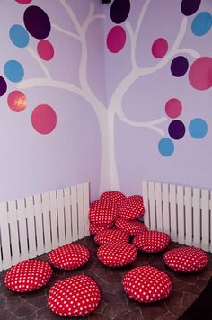 Cushions for the Reading Corner--Basement idea. Classroom Setting, Classroom Setup, Classroom Design, Classroom Displays, Preschool Classroom, Decoration Creche, Class Decoration, Home Daycare, Church Nursery