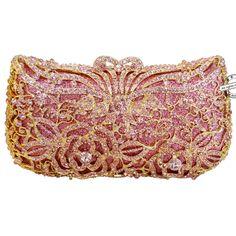 Signore metallico Diamante Party Prom Abiti da Sposa Sera Pochette Busta Borsetta Handbag