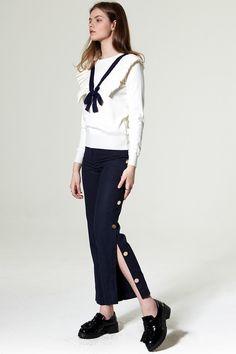 Karin Wide Leg Pants Discover the latest fashion trends online at storets.com #Wrap Belt Skirt  #Stripe Skirt  #Leggings