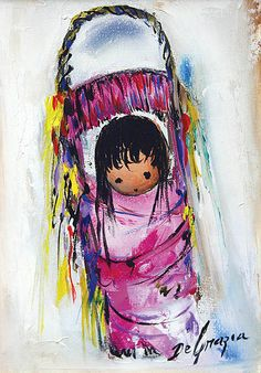 """DeGrazia's """"The Pink Papoose""""."""