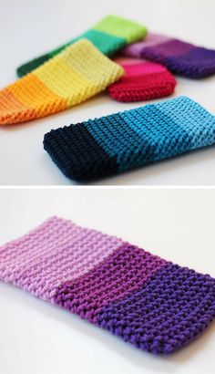 Free crochet pattern: Herringbone phone cover (ENG + NL)