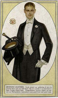 Kuppenheimer 'Evening Clothes'  Illustration by JC Leyendecker