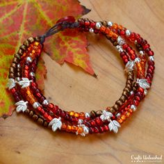 DIY Easy Beaded Bracelet With Button Clasp For Fall